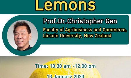 AgEcon SEMINAR The Market of Lemons